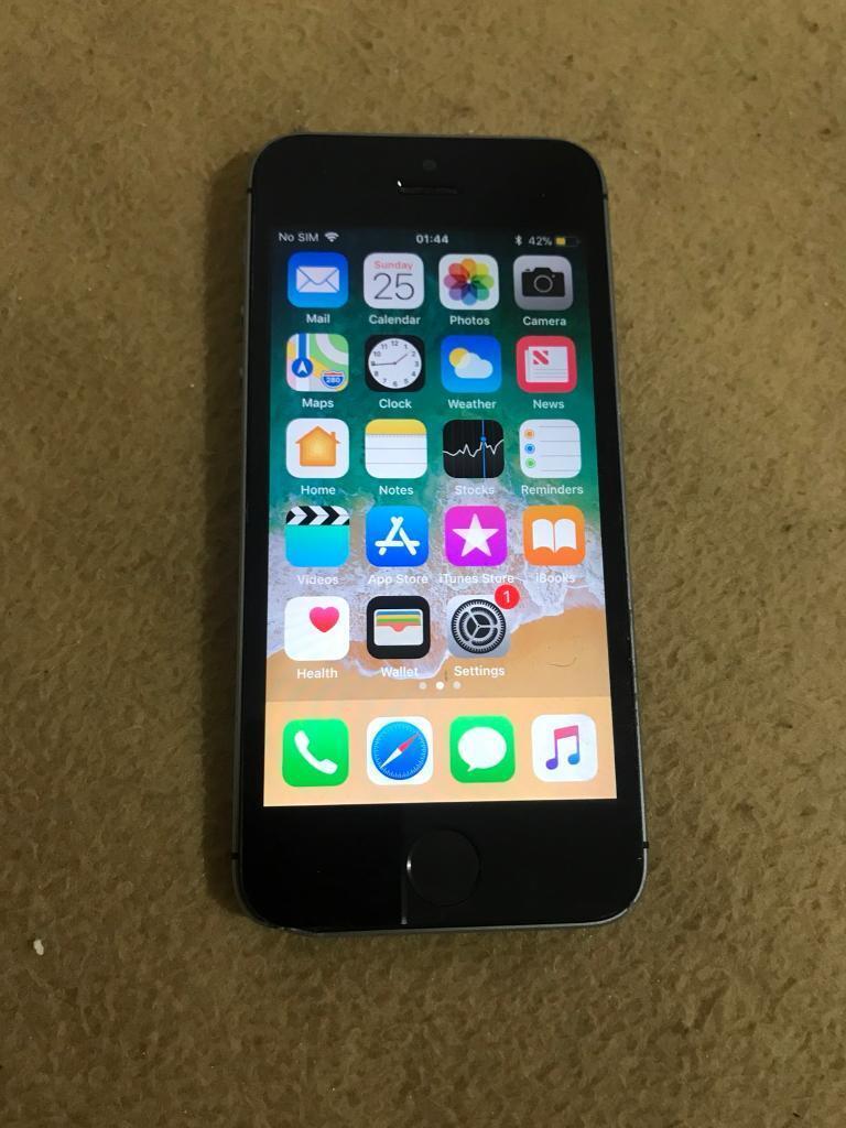 Apple Iphone 5s Black 16gb Vodaphone And Lebara In