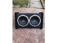 Car twin subwoofer