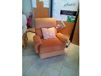 Reids orange armchair