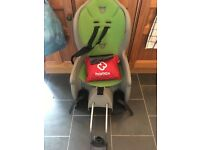 Hamax child bike seat and rain poncho
