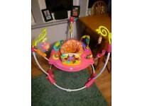 Pink petal jumperoo