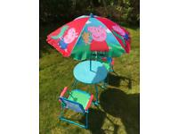 Peppa Pig Picnic Table and Chair Set