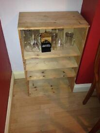 Plain stripped pine unit (with optional glasses)