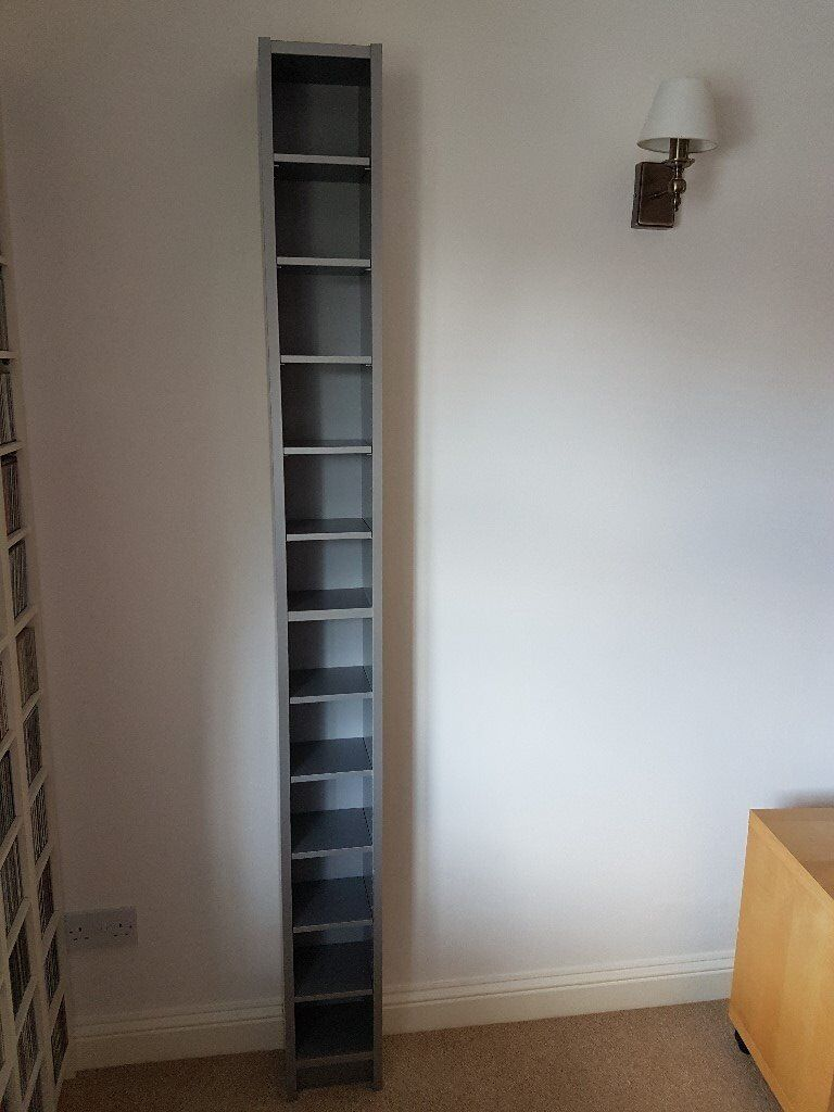Ikea Benno Billy Gnedby Cd Dvd Storage Tower In Silver