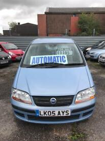 Fiat idea automatic 1.4 petrol 5 doors hatchback 5 seater family car 05 plate