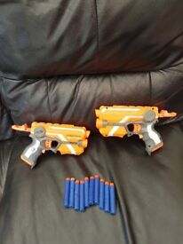 2 Nerf Elite Double Strike guns