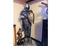 2 life size knight statues