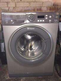 New model silver hotpoint washing machine / washer