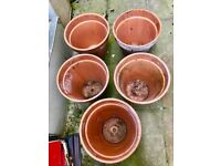 Huge Hand made Ceramic Unglazed Pots bought from Columbia Pottery