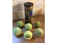 6 TENNIS BALLS plus Container