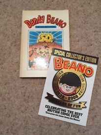 Dandy and Beano The First 50 Years and The Beano 70th Anniversary Collector's Edition