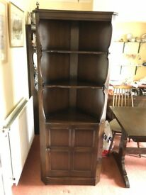 Ercol Old Colonial corner display unit