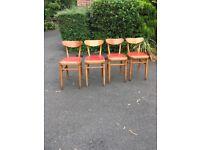 Vintage Retro Chairs Mid Century x 4