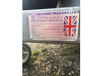 Heritage twin axel trailer