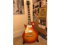 Left Handed Vintage V100 Sunburst Electric Guitar