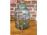 Large glass drink dispenser 11.3 litres