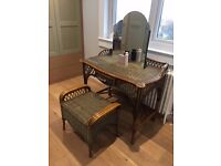 Bamboo & Wicker John Lewis Dressing Table / Desk and Stool