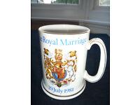 Royal Marriage Charles and Diana 1981 large mug