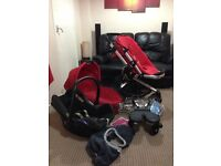 Quinny Buzz buggy with 3 seats and accessories