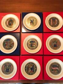 Hornsea limited edition Christmas plates