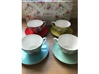 CATH KIDSTON CLIFTON ROSE TEA CUP AND SAUCER SET