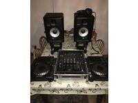 Full pioneer nexus dj setups decks,mixer speakers and headphones