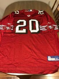 San Francisco 49ers XL Reebok American Football shirt