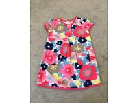 Mini Boden 100% cotton flower tunic dress age 2-3