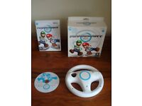 ***Wii Game and Accessories - Mariokart Wheel + Game - Very Good Condition***