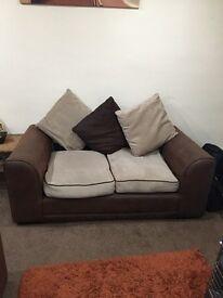 Two seater sofas. X2