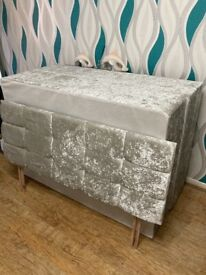 Double bed and headboard- base only