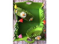 Floral felt baskets