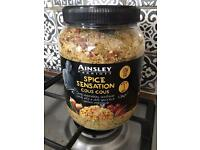 Large brand new tub of Ainsley Marriott spicy cous cous