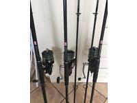 Carp rods and big pit reels