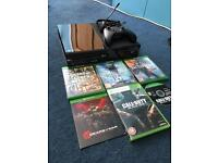 Xbox one plus games,controller and headset