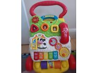 VTech Baby First Steps Baby Walker & Shapes, Numbers, Musical Activity Entertainment like new