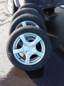 HONDA CIVIC MICHELIN XICE Xi3 HIGH PERFORMANCE  WINTER TIRES 215 / 60 / 16  ON  ALLOY RIMS
