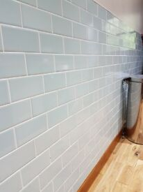 Crackle Glaze Belgravia Duck Egg Metro wall tile