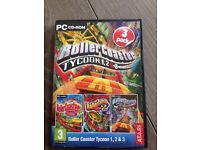 Roller coaster tycoon 1,2 and 3. PC
