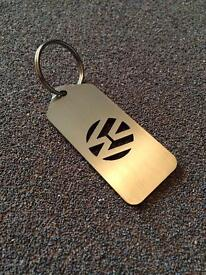 Stainless steel VW Keyrings
