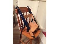 Handysitt portable wooden high chair, booster seat