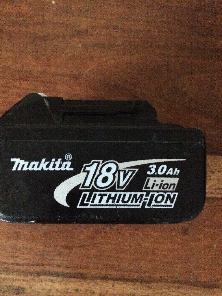 Makita 18 v lithium battery