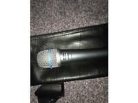 Shure beta 57a microphone mint with clip bag and neutrik xlr cable