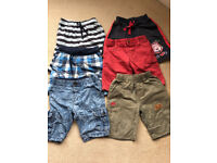 6 pairs of age 3-4 boys shorts in good condition