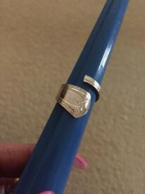 Real silver spoon Ring 925