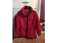 New Trespass ladies Red waterproof ski jacket Size large 16/18