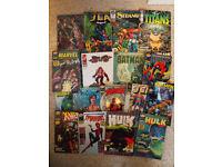 Various comics (Futurama, DC, Marvel, Blake's 7)