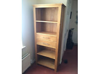 Bookcase (Rivermead 2 draw solid oak book case)