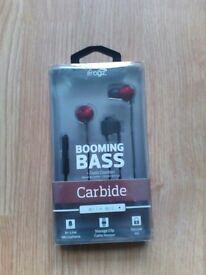 BRAND NEW iFrogz BOOMING BASE Carbide Buds/mic. Boxed Great Gift!