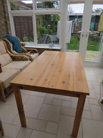Lovely Hard Pine Dining Table- 59inches long, 34 inches wide and 29 inches high